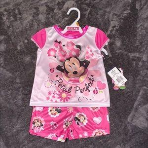NWT 3T Minnie Mouse 3 piece pajama set